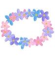 Floral wreath made of forget-me-not flowers vector image vector image