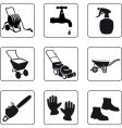 garden equipment vector image