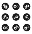 gear flat wheels icon set vector image