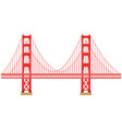 golden gate vector image vector image