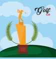 golf club golden trophy vector image vector image