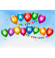 Happy birthday balloons Holiday background vector image