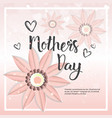 happy mother day card background template with vector image