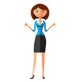 happy young businesswoman showing thumbs up vector image vector image