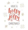 Have a Holly Jolly Christmas greeting card vector image