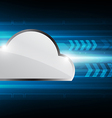 hi speed cloud computing technology vector image vector image