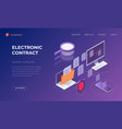 landing page for electronic contract vector image