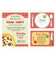 Make Your Own Pizza Party Invitation Set vector image
