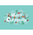 Merry Christmas contemporary greeting card vector image vector image
