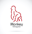 Monkey orangutan vector image vector image