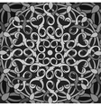 Monochrome decorative background with a circular vector image vector image
