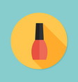 nail polish flat icon with long shadow eps10 vector image vector image