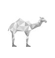 paper origami camel isolated on white background vector image vector image