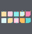 paper sticky note flat set notebook reminds vector image vector image