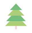 pine tree forest foliage natural icon vector image vector image