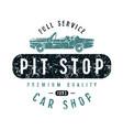 pit stop emblem vector image vector image