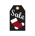 sale new year tag sample on vector image vector image