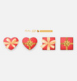 set gifts box collection realistic gift vector image vector image