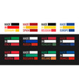 set labels made in spain italy germany vector image vector image
