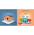Set of Design Houses Web Banners vector image vector image