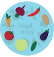 Set of vegetables isolated vector image