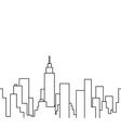 silhouette cityscape vector image