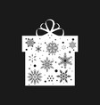 snowflake gift box christmas and new year vector image vector image