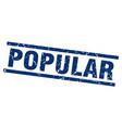square grunge blue popular stamp vector image vector image