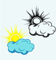sun in clouds symbol vector image vector image