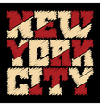 T shirt typography New York drawn vector image vector image