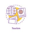 tourism concept icon vector image