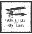Vintage airplane typography poster Lettering and vector image vector image
