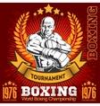 Vintage boxing emblem label badge logo and vector image vector image