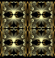 vintage gold ornamental seamless pattern vector image vector image