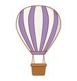 violet hot air balloons vector image
