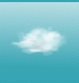 white cloud isolated on blue sky background vector image
