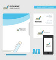 writing business logo file cover visiting card vector image vector image