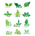 Eco green icons set vector image