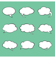 Set of blank comic style speech bubbles vector image