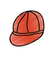 young cap idrawing isolated icon vector image