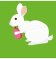 Easter cartoon rabbit with painted egg vector image
