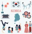 Korea design elements vector image