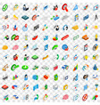100 creative idea icons set isometric 3d style vector image vector image