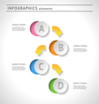 Abstract infographics elements vector image vector image