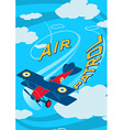 Air patrol aircraft flying loops in the sky vector image vector image