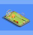 amusement park composition vector image vector image