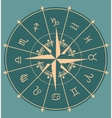Astrology symbols in circle vector image vector image