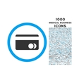 Banking Card Rounded Symbol With 1000 Icons vector image