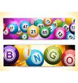 bingo ball banners vector image vector image
