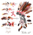 boho fashion set from decorative elements vector image vector image